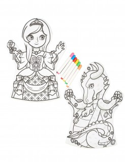 Färbe-Marionette abwaschbar 2 Stück