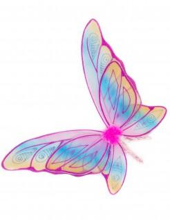 Schmetterlingsflügel mit Glitzer für Mädchen rosa