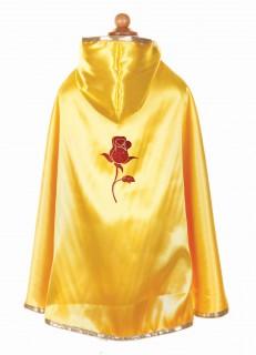 Wende-Cape Prinzessin für Mädchen rot-gelb