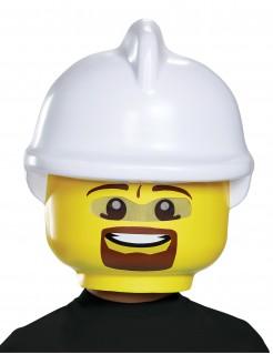 LEGO™ Feuerwehrmann Kindermaske Lizenzware gelb-weiss