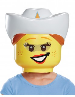 LEGO™ Cowgirl Maske für Kinder bunt