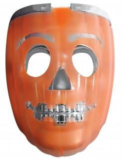 Leuchtende 2 in 1 Kürbis-Maske für Halloween