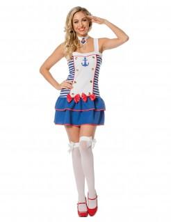 Matrosin-Damenkostüm JGA-Kostüm weiss-blau-rot