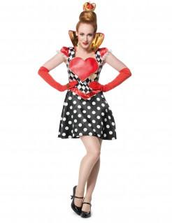 Kostüm Karten-Prinzessin für Damen