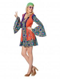 Hippie-Kostüm mit Fransen für Damen