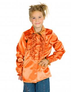 Hemd mit Rüschen für Kinder orange