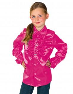 T-Shirt mit Rüschen für Kinder rosa