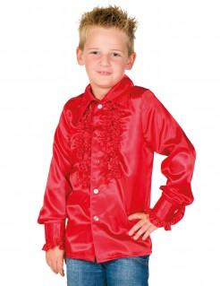 Hemd mit Rüschen für Kinder rot