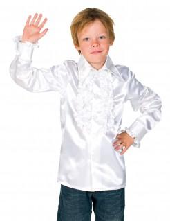 Hemd mit Rüschen für Kinder weiss