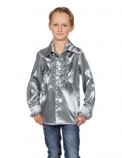 Hemd mit Rüschen für Kinder silber