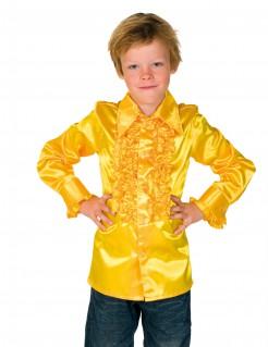 Hemd mit Rüschen für Kinder gelb