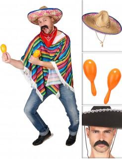 Mexiko-Accessoire-Set 3-teilig Karneval bunt