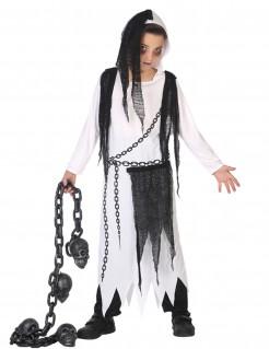 Halloween Kinderkostüm Jungen Sensenmann weiss-schwarz
