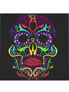 Dia de los Muertos Servietten mit Sugar Skull Halloween-Tischdeko 20 Stück bunt 33 x 33cm