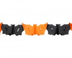 Girlande Halloween Fledermaus schwarz-orange 3 m lang