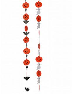 Hängegirlande 2 Stück orange-schwarz-weiss 130cm