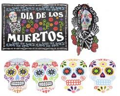Dia de los Muertos Halloween Deko-Set 7-teilig bunt