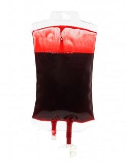 Blutbeutel Halloween-Partydeko rot 16cm