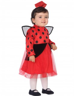 Süßer Marienkäfer-Kostüm für Kleinkinder rot-schwarz