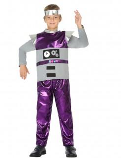Jungenkostüm Roboter - grau/lila