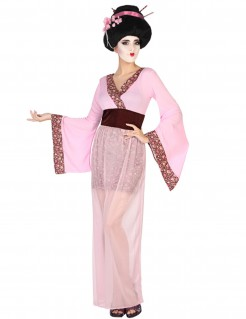 Geisha-Verkleidung für Damen - pink