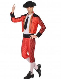 Stierkämpfer-Herrenkostüm Torero-Kostüm rot