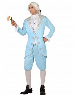 Kostüm Barock-Prinz für Herren blau
