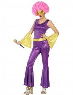 Disco-Kostüm für Damen violett
