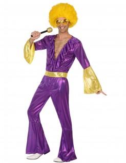 Disco Kostüm Herren violett