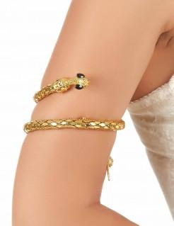 Schlangen-Armreif Kostüm-Accessoire gold