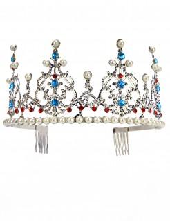 Edle Prinzessinnen-Tiara silber