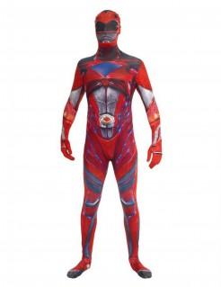 Power Rangers™ Morphsuits™ Anzug für Erwachsene rot