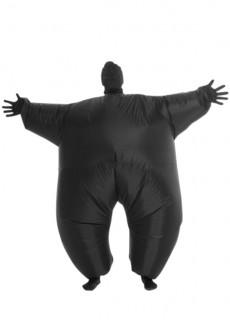 Moprhsuits™-Kostüm aufblasbar für Erwachsene schwarz