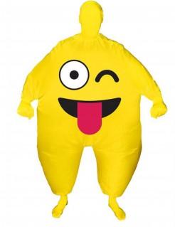 Aufblasbares Morphsuits™ Kostüm fröhliches Gesicht für Erwachsene