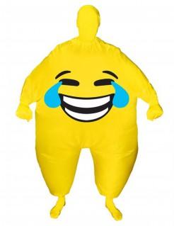 Lachendes Gesicht aufblasbares Emoticon Morphsuits™ Kostüm für Erwachsene