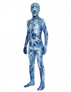 Mumien-Kostüm für Kinder Spinnennetz Morphsuits™ Halloweenkostüm blau-weiss