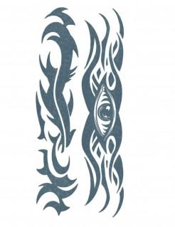 Tribal-Tattoo mit Auge 2 Stück