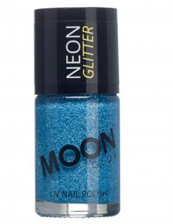 UV-Nagellack Neon-Glitzer Moonglow© blau 15ml