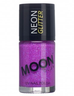 UV-Nagellack Neon-Glitzer Moonglow© lila 15ml