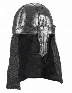 Mittelalter Ritterhelm Kostümaccessoire silber