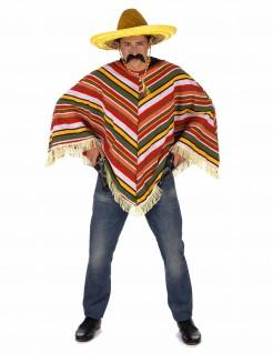Mexikanischer Poncho Mexikanerkostüm-Accessoire bunt