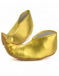 Orientalische Sultan-Spitzschuhe Kostümaccessoire gold