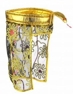 Ägyptischer Kopfschmuck mit Blumen Pharaoninnen-Accessoire gold