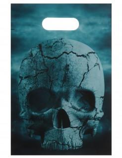 Totenkopf Geschenktüten Halloween Party-Zubehör 10 Stück grau 16x23cm
