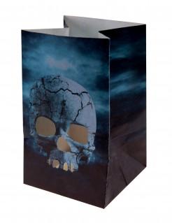 Nacht des Grauens Halloween-Lampions 6 Stück 6 x 10 cm