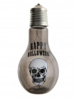 Glühbirne mit Totenschädel Dekoration für Halloween 11 x 21 cm