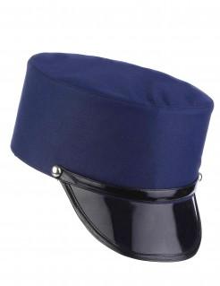 Gendarme-Mütze Polizist Kostümaccessoire blau-schwarz