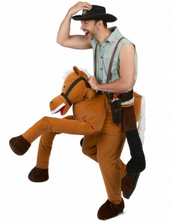 Witziges Carry-Me-Kostüm Reiter braun