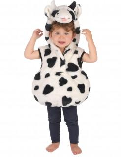 Niedliches Kuhkostüm für Kleinkinder weiss-schwarz