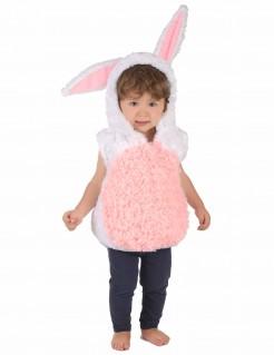 Kuschliges Hasen-Kinderkostüm Osterkostüm rosa-weiss
